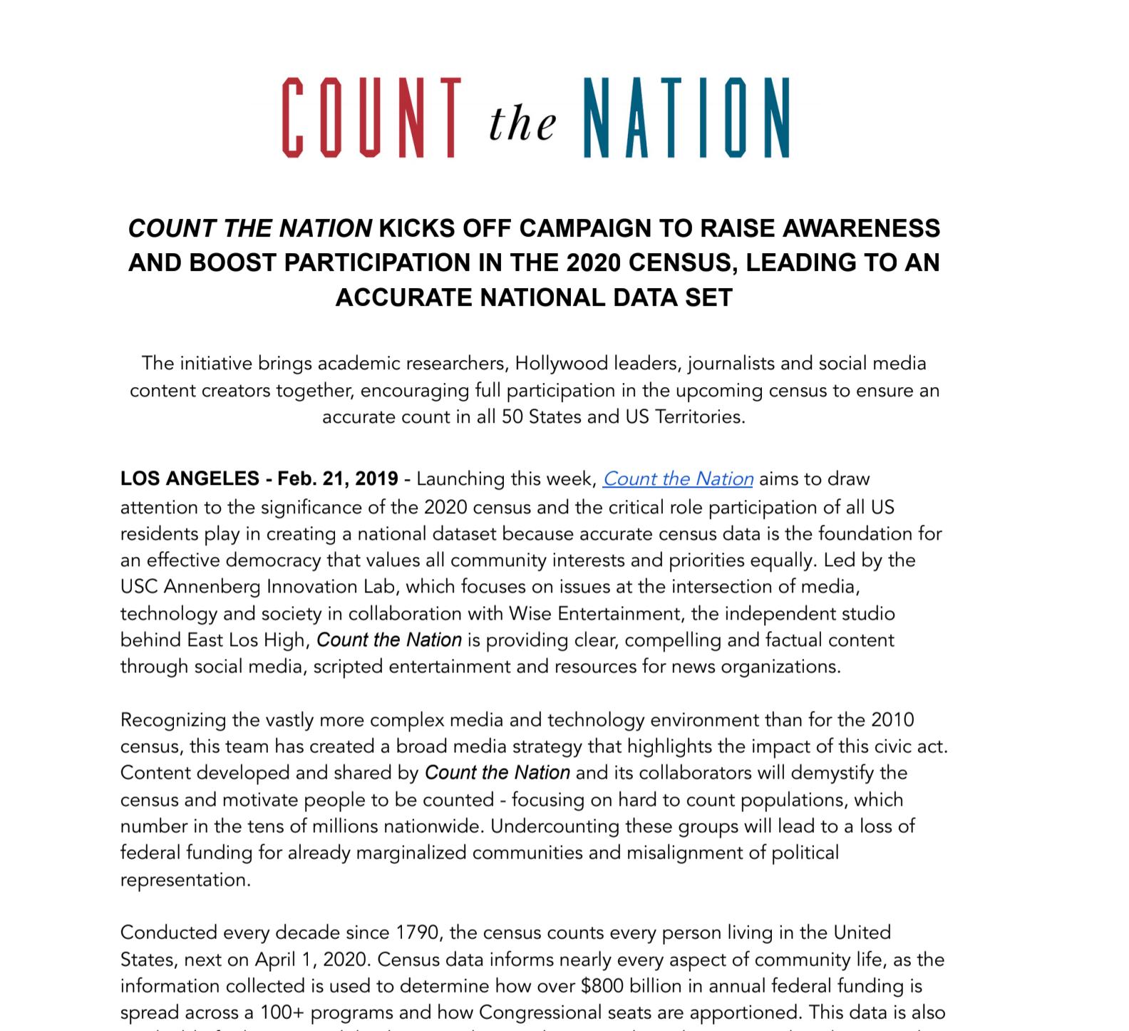 Feb 2019 Press Release