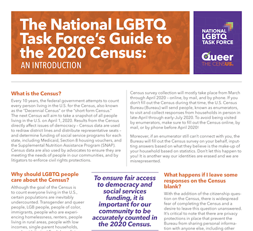 Guide to the 2020 Census